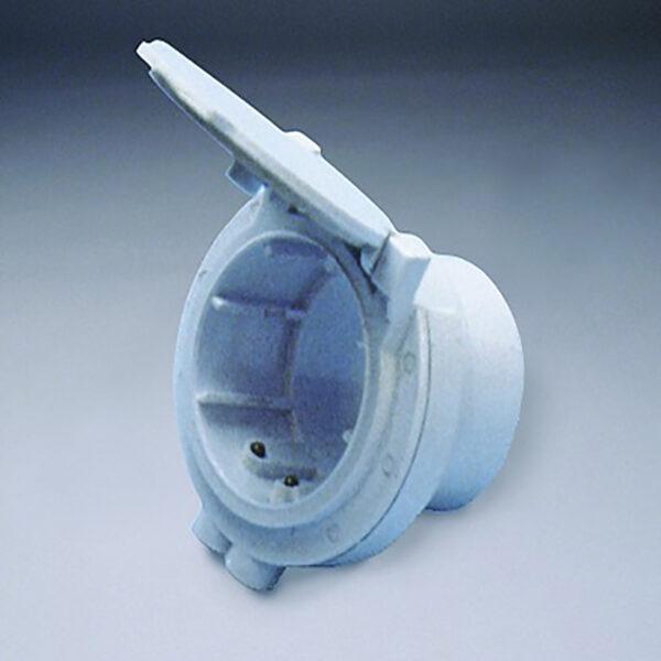 Евророзетка для подсобных помещений белая пневморозетка