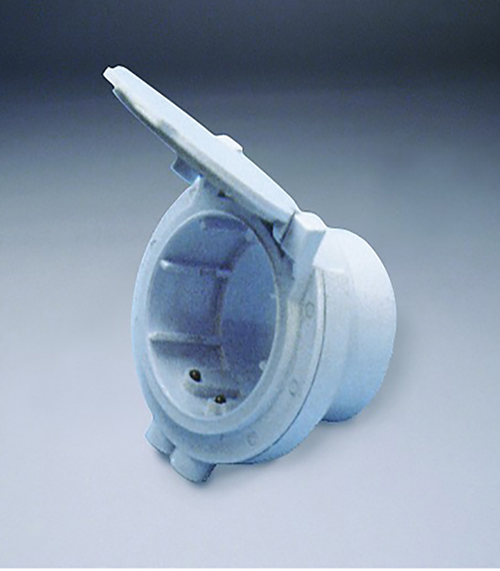 Евророзетка для подсобных помещений (белая)