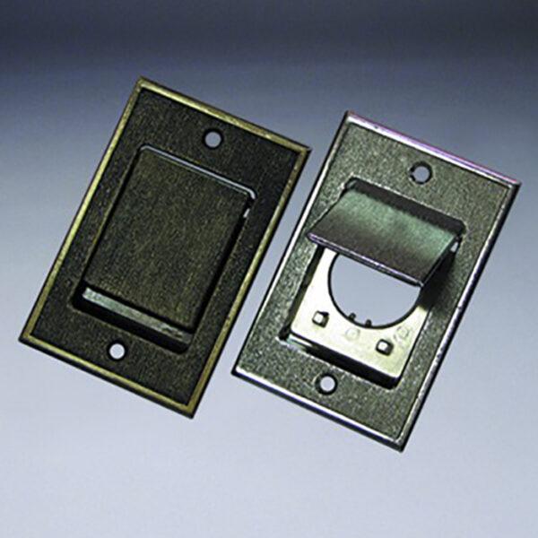 Евророзетка металлическая сталь