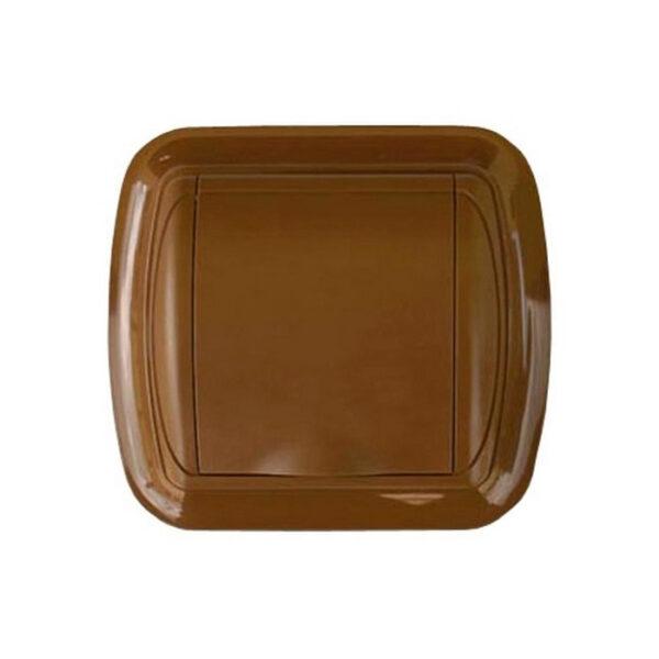 Евророзетка с рамкой светло-коричневая New Design