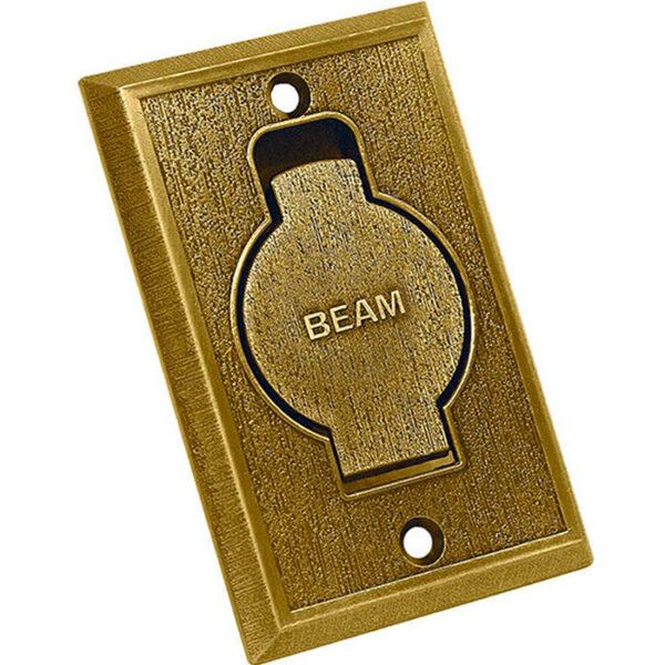 Пневморозетка настенная металлическая BEAM бронза