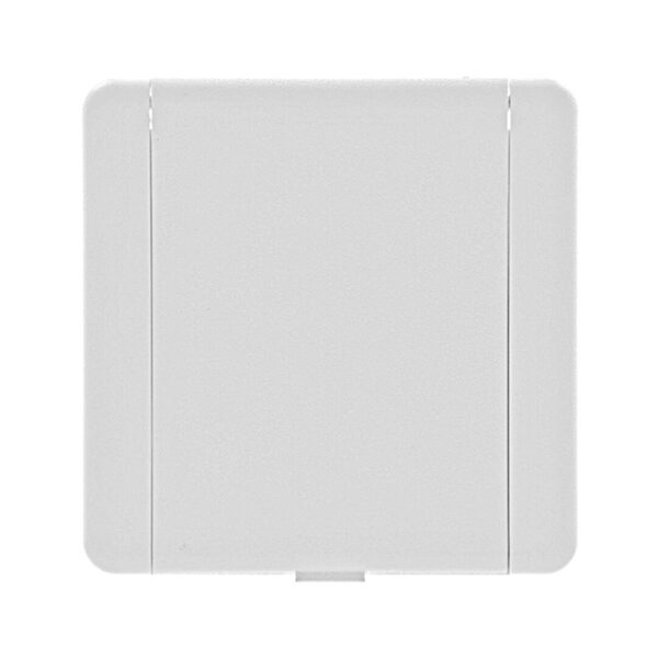 Пневморозетка настенная пласт квадратная Евро белая