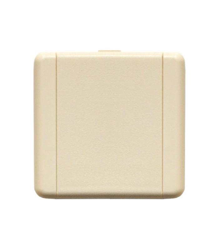Пневморозетка настенная пласт квадратная Евро (слоновая кость)