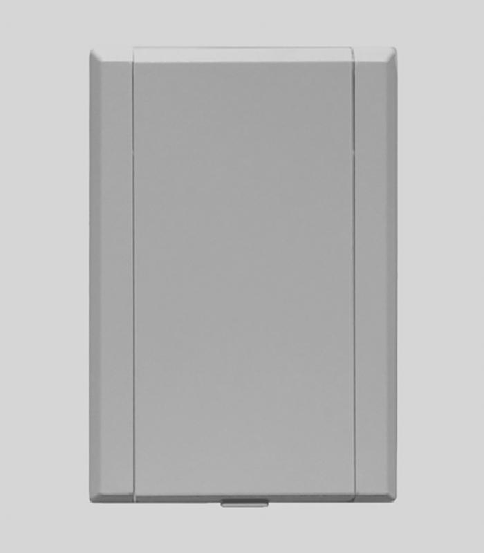 Пневморозетка настенная пласт прямоугольная Евро (белая)