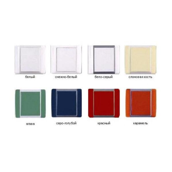 Пневморозетка серия Element белый, снежно-белый, бело-серый, карамель, агава, красный, слоновая кость серо-голубой
