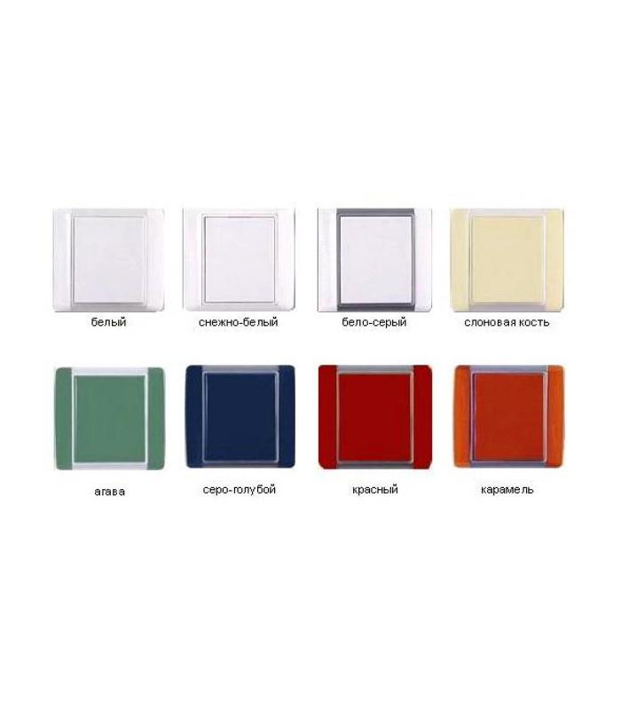 Пневморозетка серия Element (белый, снежно-белый, бело-серый, карамель, агава, красный, слоновая кость серо-голубой)