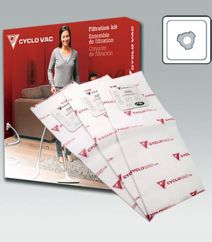 Комплект фильтр-пакетов (3 шт) для Cyclovac GS 91, GS 211